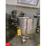 Aprox 140 Quart S/S Mixer Bowl Rigging Fee: $ 20