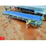 "Pavan S/S Frame Portable Conveyor , 5'L, 9""W, with Ele .25 HP Motor, Interlox Belt And Drive"