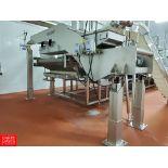 Key Iso-Flo S/S Vibratory Conveyor: Model SH01-008516, S/N W1025311-008237, Stroke 6, RPM 888;
