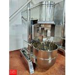 2012 Food Machine All S/S 15 hp Mixer: Model ML-11300S, S/N H12100193, W/ Aprox 140 Quart Bowl