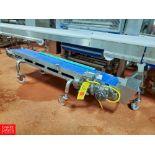 "Pavan S/S Frame Conveyor , 5'L, 9""W, with Ele .25 HP Motor, Interlox Belt And Drive"
