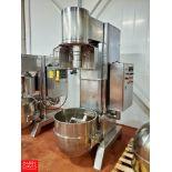 Dynasty Food Machine All S/S 15 hp Mixer Model ML-11300S, S/N H12100193 W/ Aprox 140 Quart Bowl