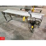 """Nercon Portable S/S Frame Product Conveyor with Interlox Belt S/S Clad Motor And Drive 99"""""""" x 12"""""""""""