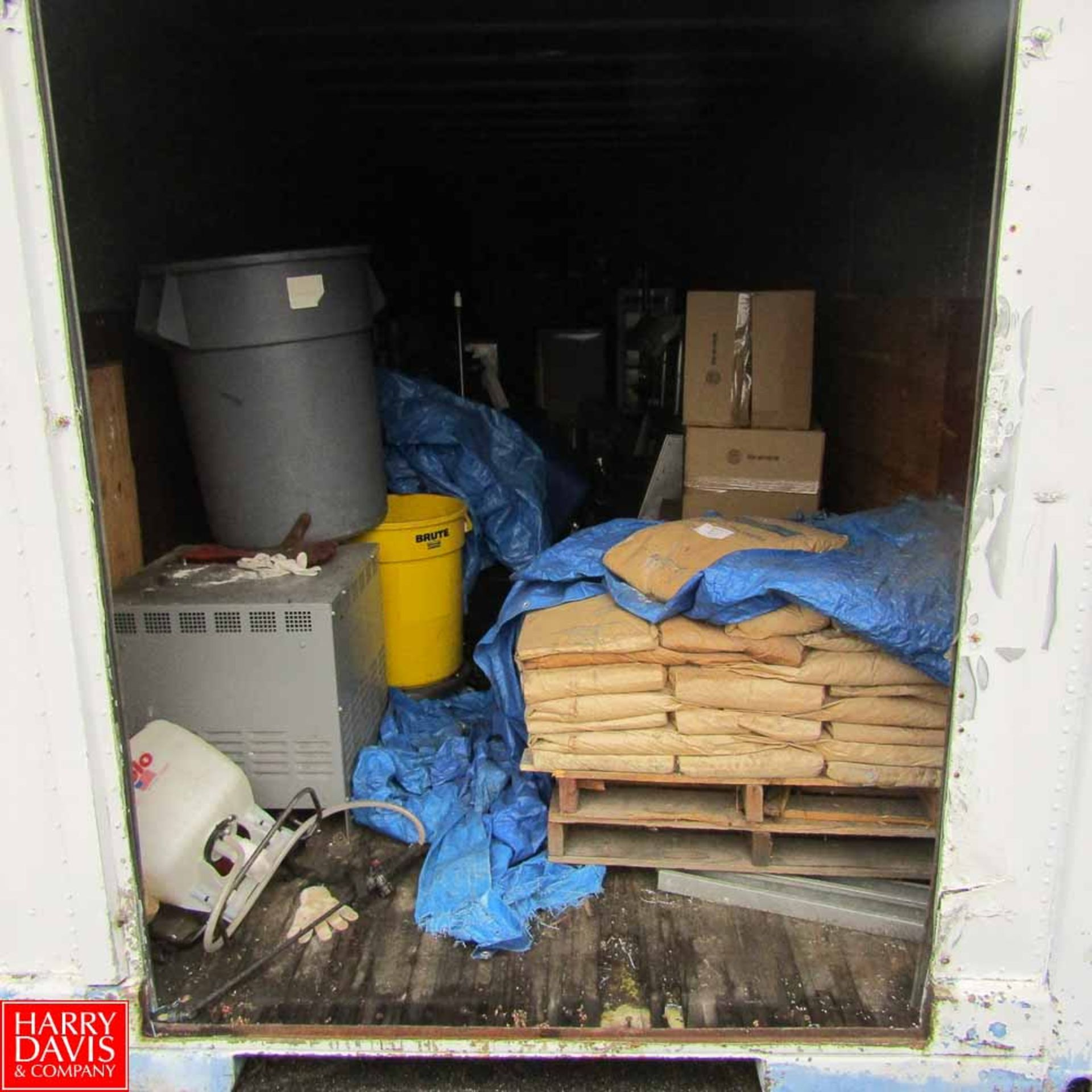 Lot 615 - 40' Shipping Container with Contents Including: Sausage Linker Spare, Spare Transformers, Lincoln