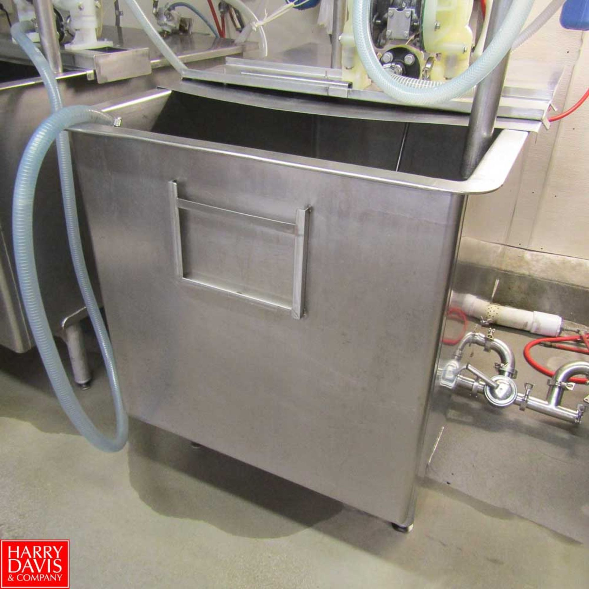 "Lot 227 - Stainless Steel Mixing Vat, 48"" x 36"" x 36"" Rigging Fee: 150"