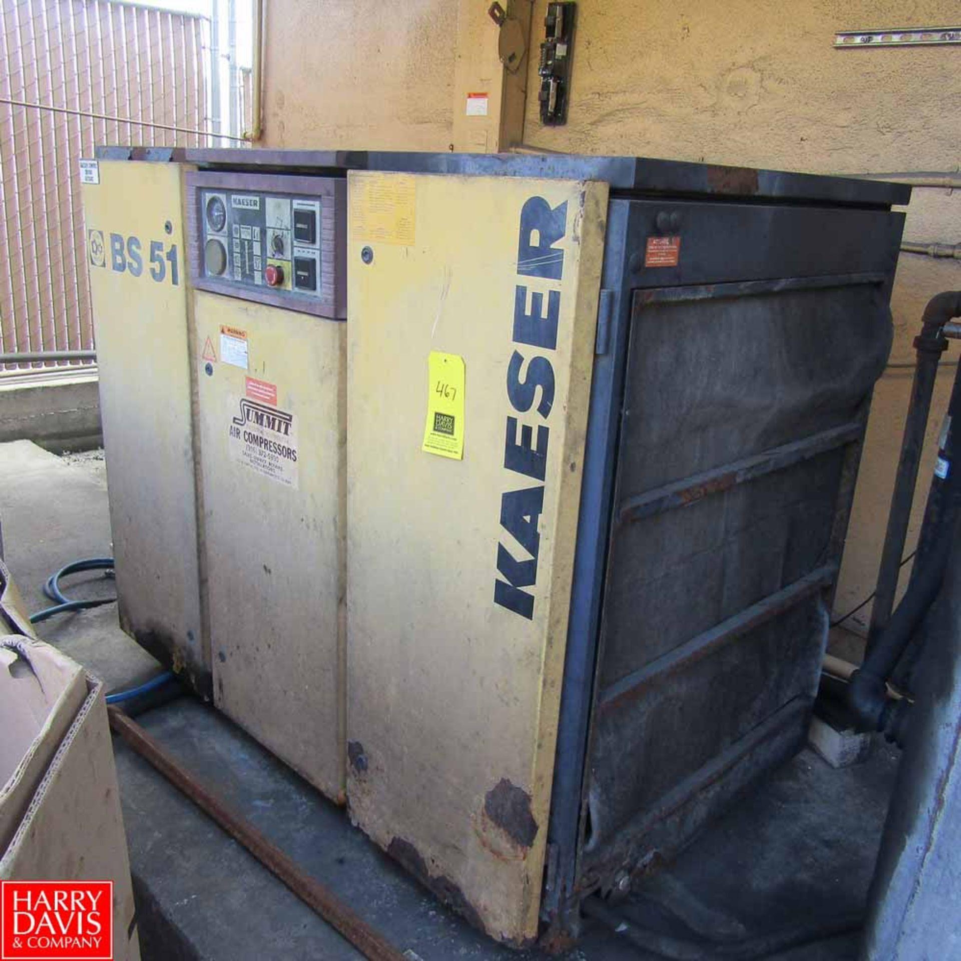 Lot 467 - Kaeser Compressor Model BS-51 Rigging Fee: 500