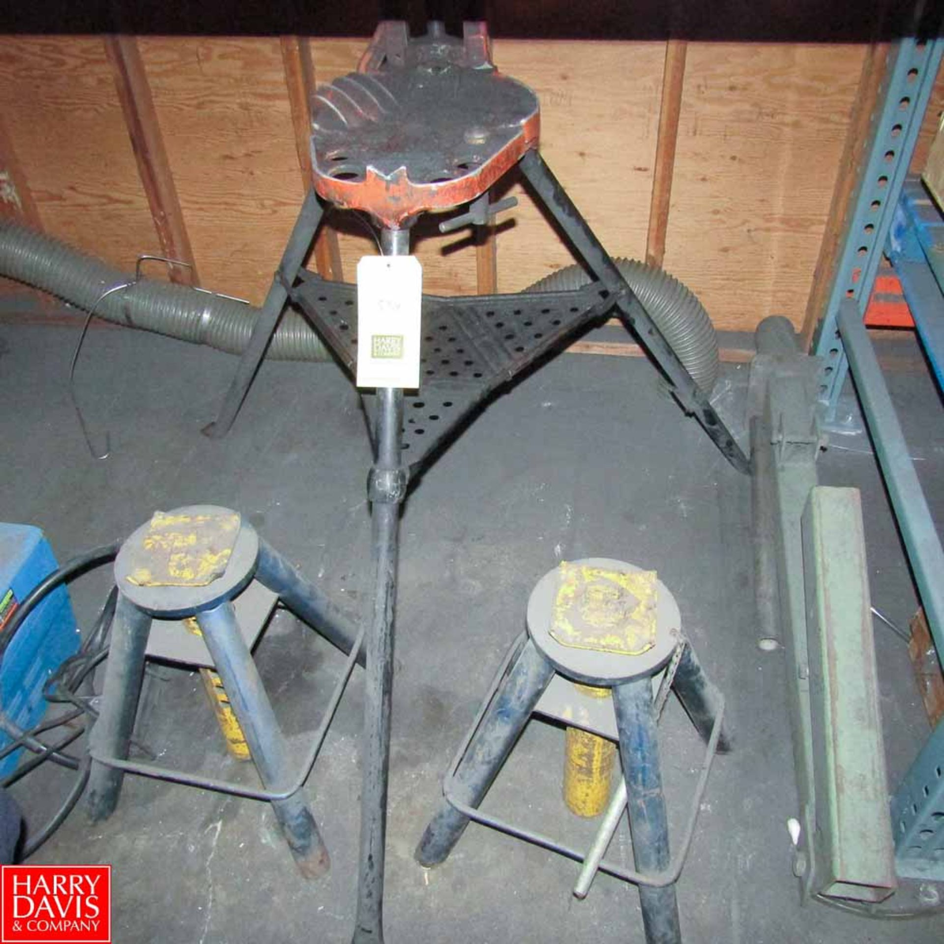 Lot 550 - Rigid Pipe Stand, with (2) Jack Stands Rigging Fee: 50