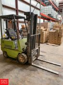 Clark 2,475 LB Capacity Propane Forklift Model GCX15E : SN GX127E-0130-9380FB, with Side Shift and