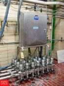 """Tri Clover 361 3"""" Air Valves in MANIFOLD WITH PANEL - Rigging Fee: $ 480"""