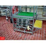 """Tri Clover 361 3"""" Air Valves in MANIFOLD WITH PANEL - Rigging Fee: $ 180"""
