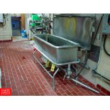 SANI MATIC 6' S/S COP TROUGH Model URWJ-100, with AMPCO Centrifugal PUMP and 3 WAY PLUG Valve -