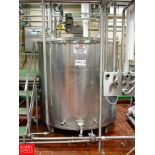 """1,000 GALLON Hinged-Lid Flat-Bottom S/S Processor with Wide-Sweep Vertical Agitation and 2"""" S/S"""