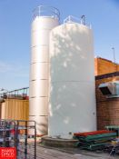 """WALKER 15,000 S/S Jacketed Silo Model VSHT-R : SN 1470-7017, with 3"""" Air Outlet Valve - Rigging Fee:"""