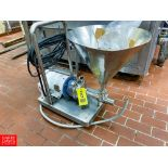 S/S Funnel With Pump Cart Mounted - Rigging Fee: $ 100