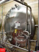 """Cherry Burrell 3,000 Gallon Horizontal Jacketed S/S Tank Model HCW : SN 3000-57-CR7134, with 2"""""""