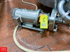 """Fristam 3 HP Centrifugal Pump, With 1760 RPM S/S Clad Motor, 2"""" x 2.5"""" Head - Rigging Fee: $ 75"""