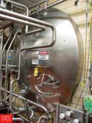 "Cherry Burrell 6,000 Gallon Horizontal Jacketed S/S Tank Model HCW : SN 6000-57-CR7122, 3"" Air"