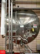 """Cherry Burrell 5,000 Gallon Horizontal Jacketed S/S Tank Model GHW : SN 50-GHW-77-2932, with 3"""""""