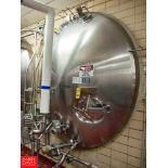 "Cherry Burrell 6,000 Gallon Horizontal Jacketed S/S Tank Model HCW : SN 6000-57-CR7121, 3"" Air"