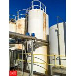 DCI 6,000 Gallon Jacketed S/S Silo with Vertical Agitation. **Located in Abarms, Wisconsin - Rigging