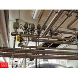 """Tri Clover 361 3"""" Air Valves in MANIFOLD WITH PANEL - Rigging Fee: $ 140"""