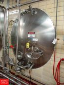 """Cherry Burrell 3,000 Gallon Horizontal Jacketed S/S Tank Model HCW : SN 3000-57-CR7130, with 2"""""""