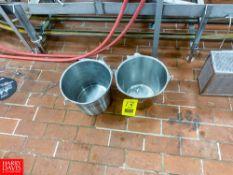 S/S Wash Buckets - Rigging Fee: $ 25