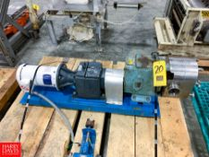 "WCB Size 130 Positive Displacement Pump, S/N 10253-SS, With Baldor 3 Hp. Motor And 2.5"" S/S Head,"