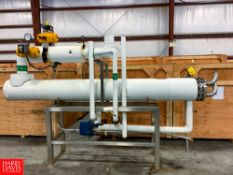 2011 Themaline 11' S/S Shell In Tube Heat Exchanger, S/N 11878-01, 145 Sq./Ft. Tube Area.