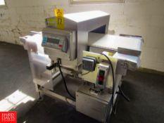 "Goring Kerr Metal Detector, 23 3/4"" W X 5 3/4"" H aperture, 22"" W X 54"" L plastic belt conveyor, dual"