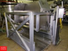 """Stainless Steel Buggie Dumper, 36"""" W X 75"""" L carriage, holds 2 buggies, dual hydraulic lift"""