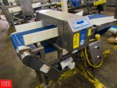 """Loma Mdl. IQ2 Metal Detector, 19 1/2"""" W X 5 3/4"""" H aperture, 18"""" W X 7' L plastic belt conveyor,"""