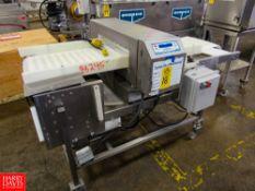 "Loma Metal Detector, 23 3/4"" W X 5 3/4"" H aperture, 18"" W X 6' L plastic belt conveyor, dual voltage"