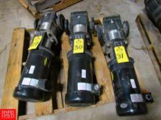 Grundfos Mdl. A98112963P112250332 Multi-Stage Pressure Booster Pump, 3 h.p., Type CR10-04A-CJ-A-E-