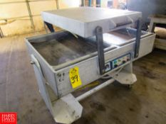 """Multivac Double Chamber Packager, +/- 830 mm Between Seals, +/- 600 mm Long, 4"""" Deep Lip, Manual"""