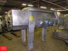 Wolfking Mdl. TSM 1000 L Stainless Steel Ribbon Blender, Ser. #24867, bottom CO2 injection, dual