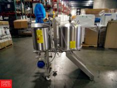 Della Toffola S/S Coagulation Skid with 50 Gallon Jacketed S/S Tank with Vertical Agtiation and