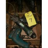 TWO METABO RIGHT ANGLE GRINDERS & MAKITA DRILL TWO METABO RIGHT ANGLE GRINDERS & MAKITA DRILL