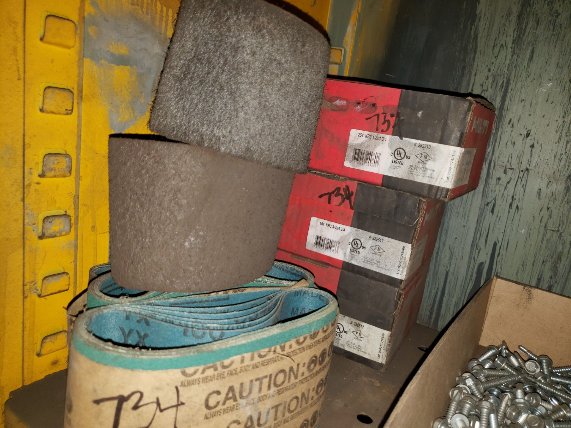Lot 734 - FASTENERS, SANDING BELTS