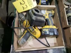 TWO DEWALT CORDLESS DRILLS WITH CHARGER