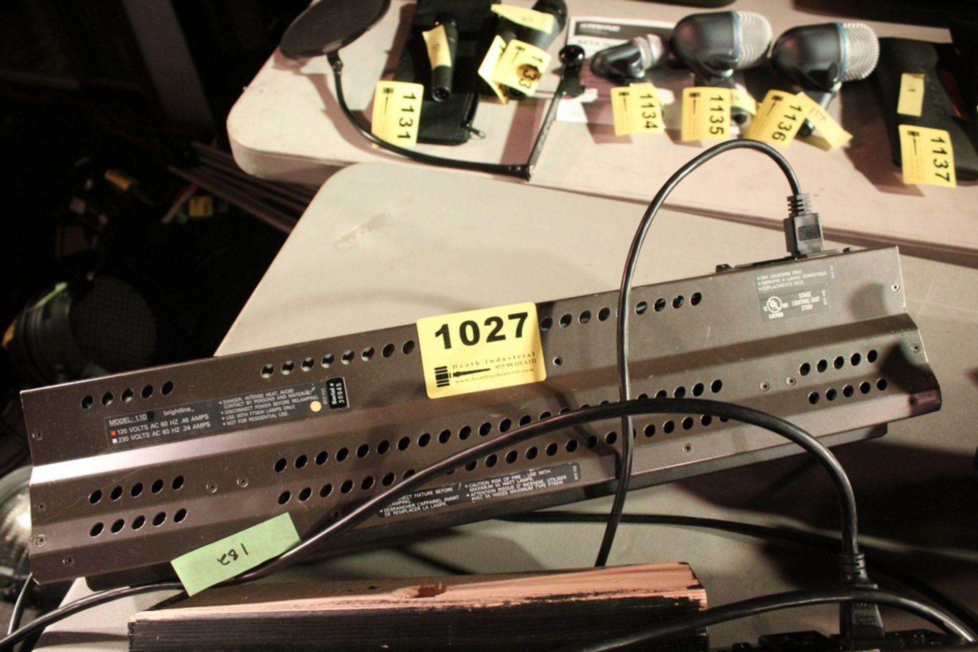 Lot 1027 - BRIGHTLINE MODEL 1.1D 10 AMP STAGE LIGHT SERIES 1 DMX LIGHT