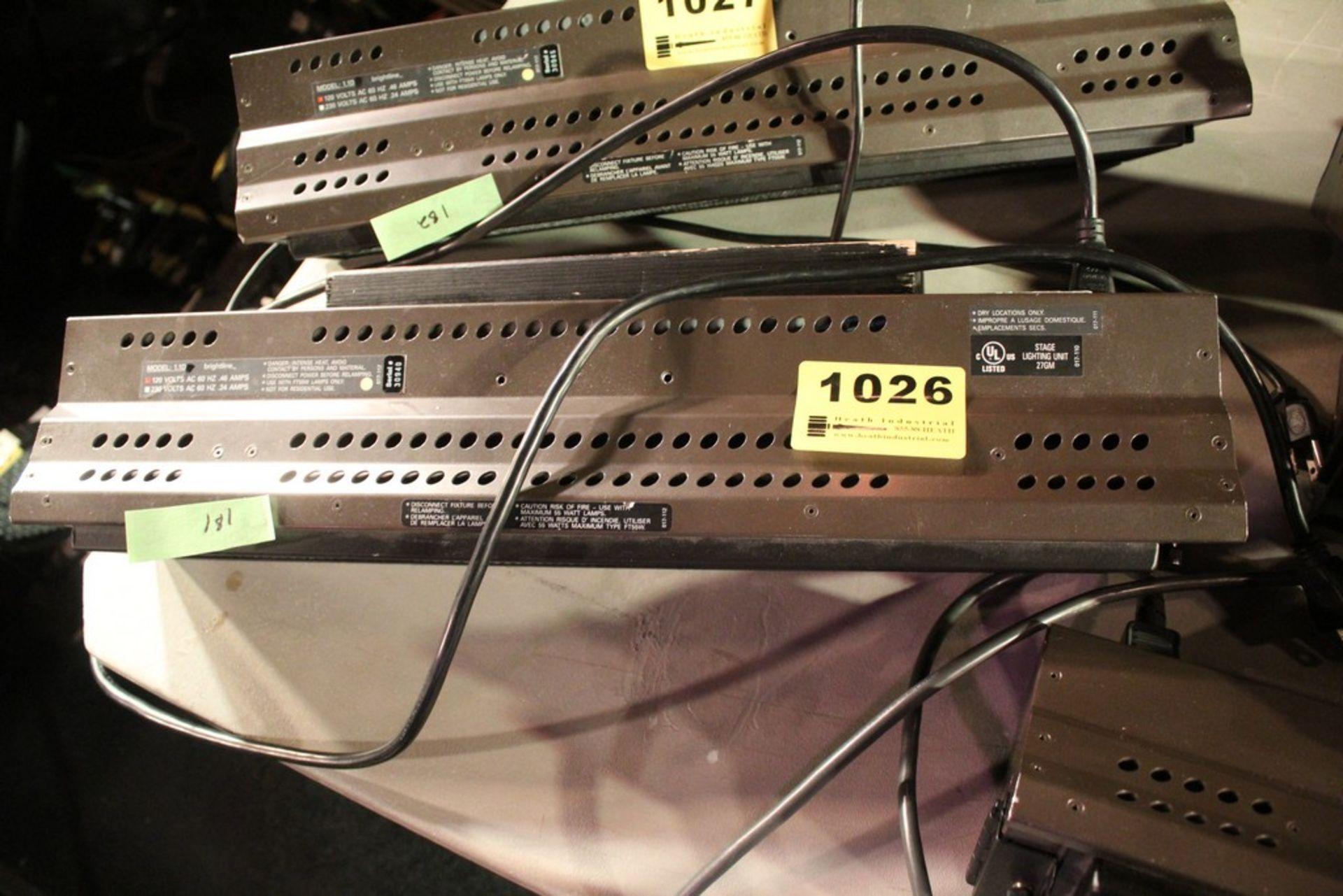 Lot 1026 - BRIGHTLINE MODEL 1.1D 10 AMP STAGE LIGHT SERIES 1 DMX LIGHT