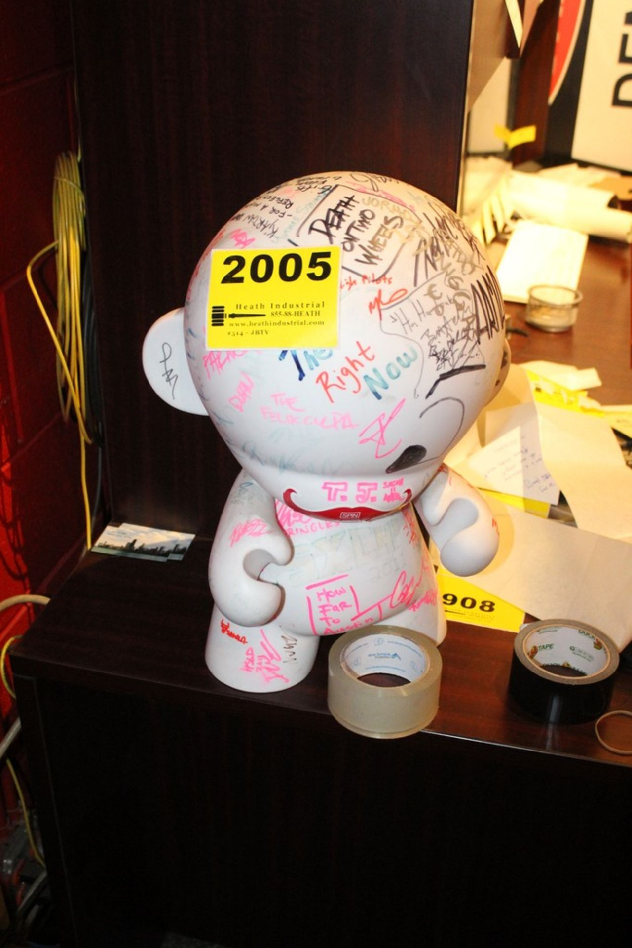 Lot 2005 - Plastic Doll Autographed by various artists from South by Southwest Festival