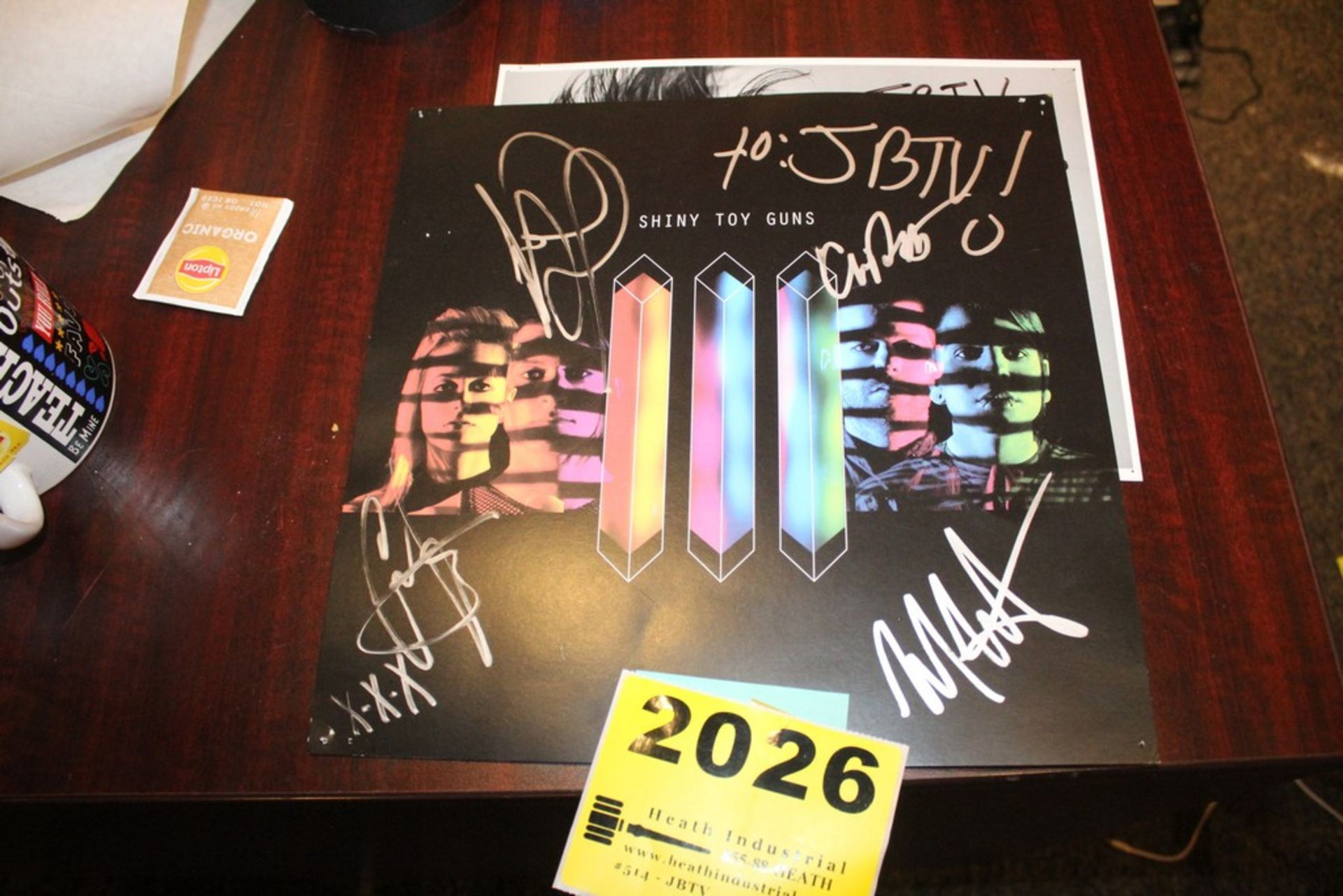 Lot 2026 - Shiny Toy Guns Signed Poster