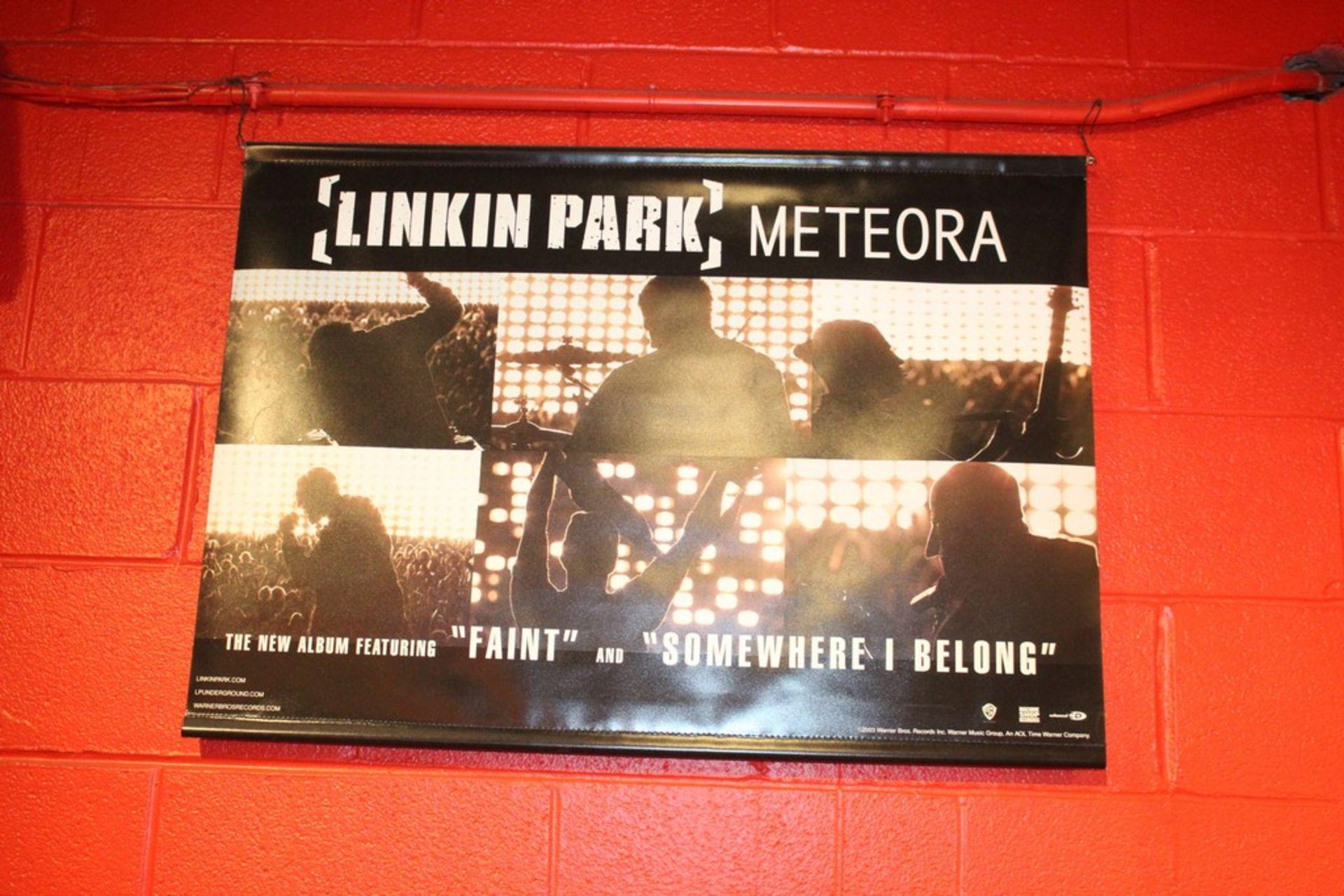 Lot 2009 - Linkin Park Meteora Plastic Scrolling Poster, Cabaret Metro Feb 18
