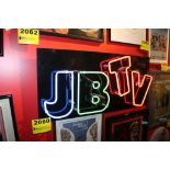 JBTV Neon sign