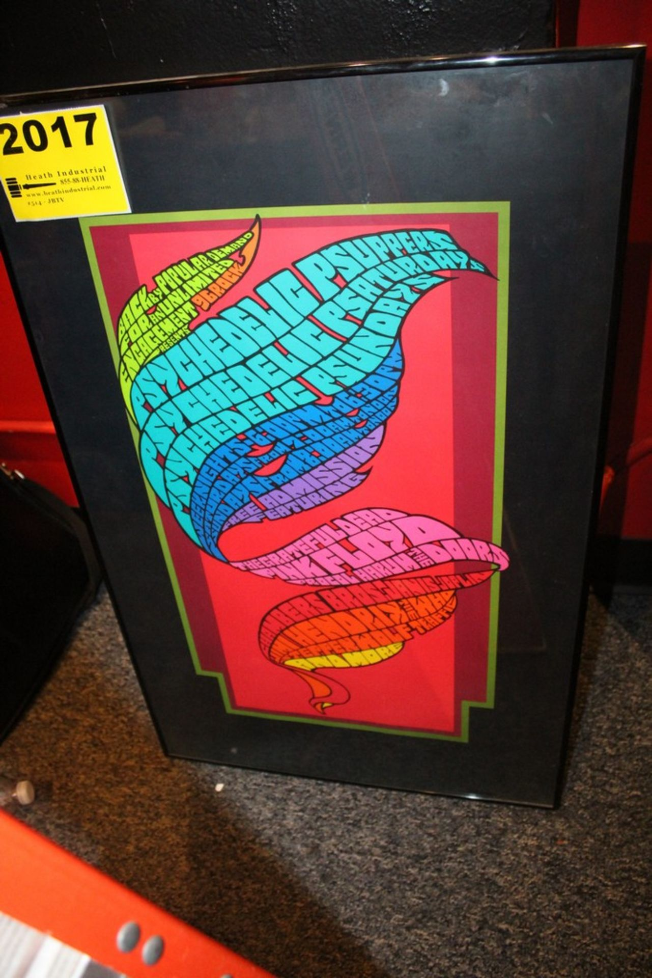 Lot 2017 - 96 Rock Psychedelic Psuppers Radio Show Poster