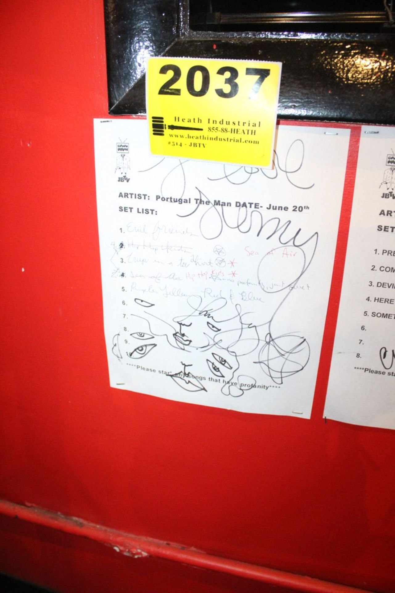 Lot 2037 - Portugal the Man Signed Set List
