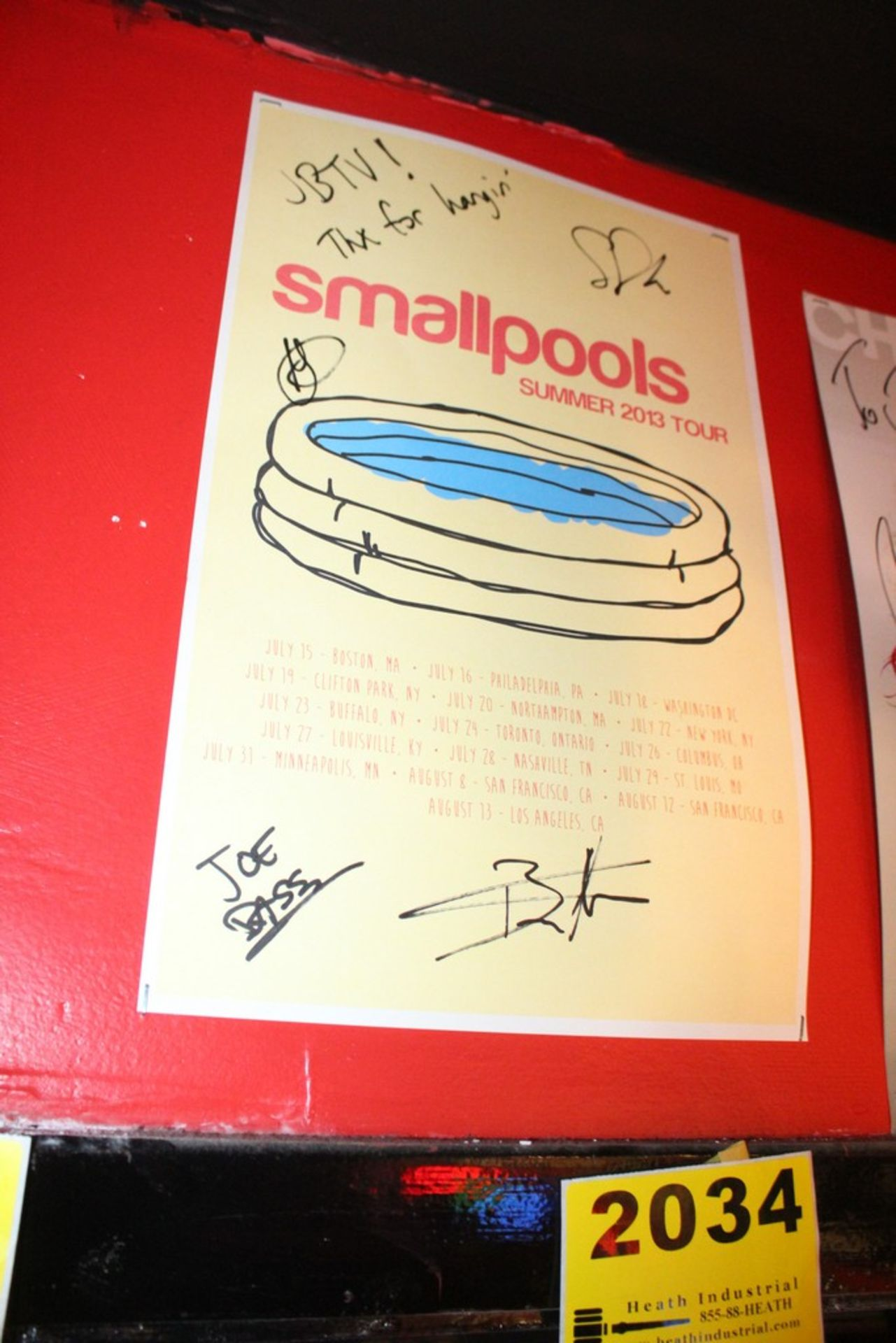 Lot 2034 - Smallpools Signed Poster