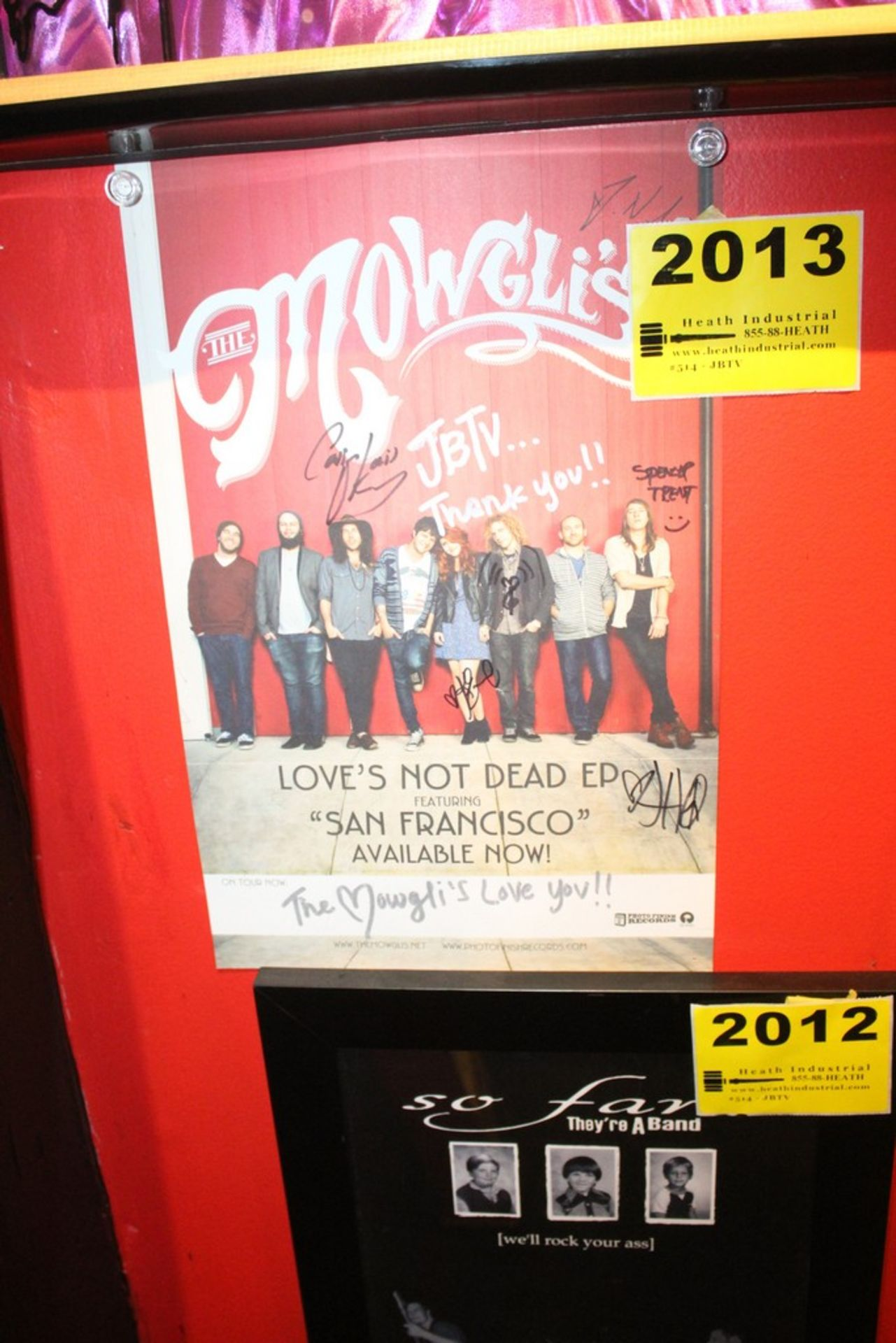 Lot 2013 - Mowgli's Signed Poster
